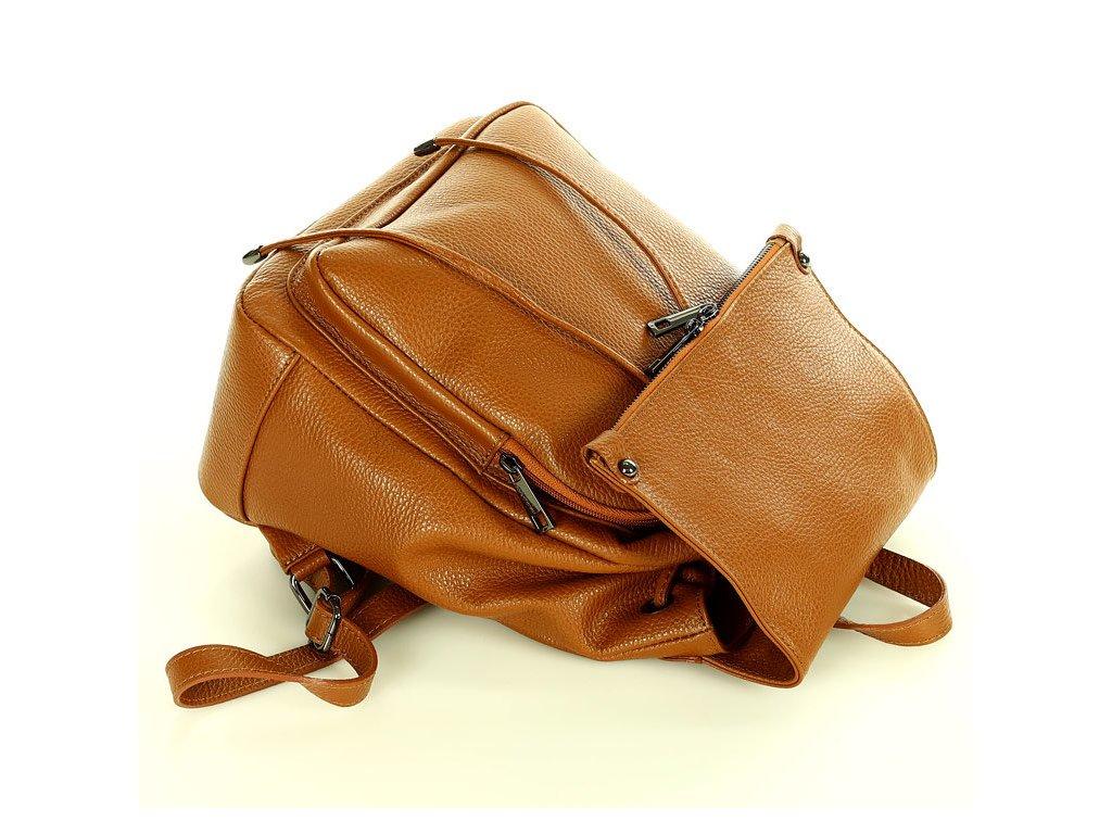 Kožený batoh DALLAS camel