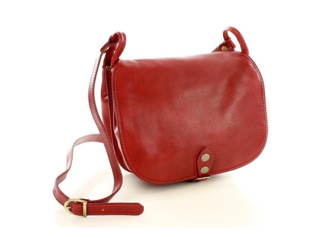Velká italská taška značky MAZZINI - Toscania Classico; červená