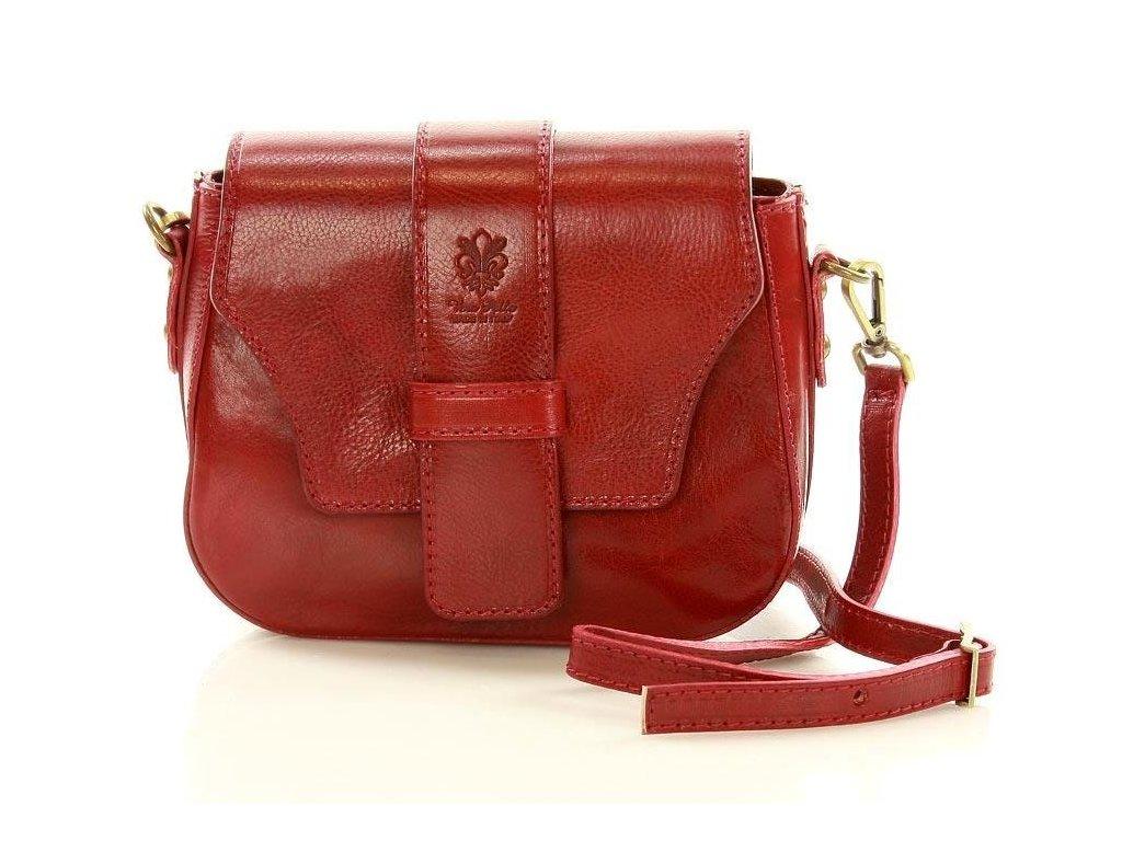 Mazzini červená crossbody kabelka