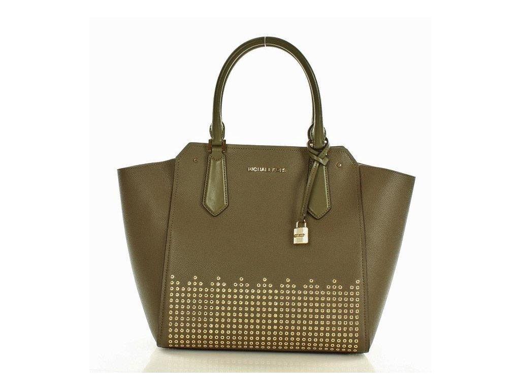 Elegantní kabelka MICHAEL KORS - HAYES; zelená