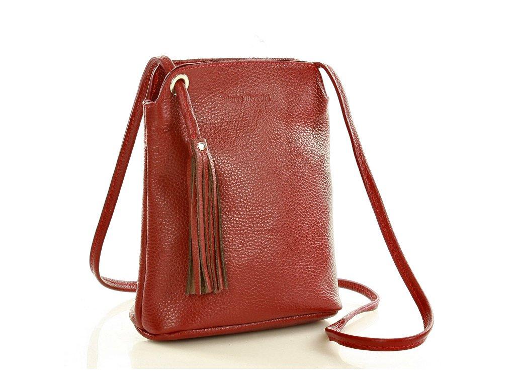 Crossbody kabelka Marco Mazzini; červená