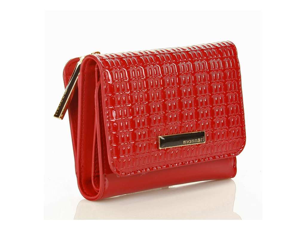 MONNARI Červená elegantní peněženka