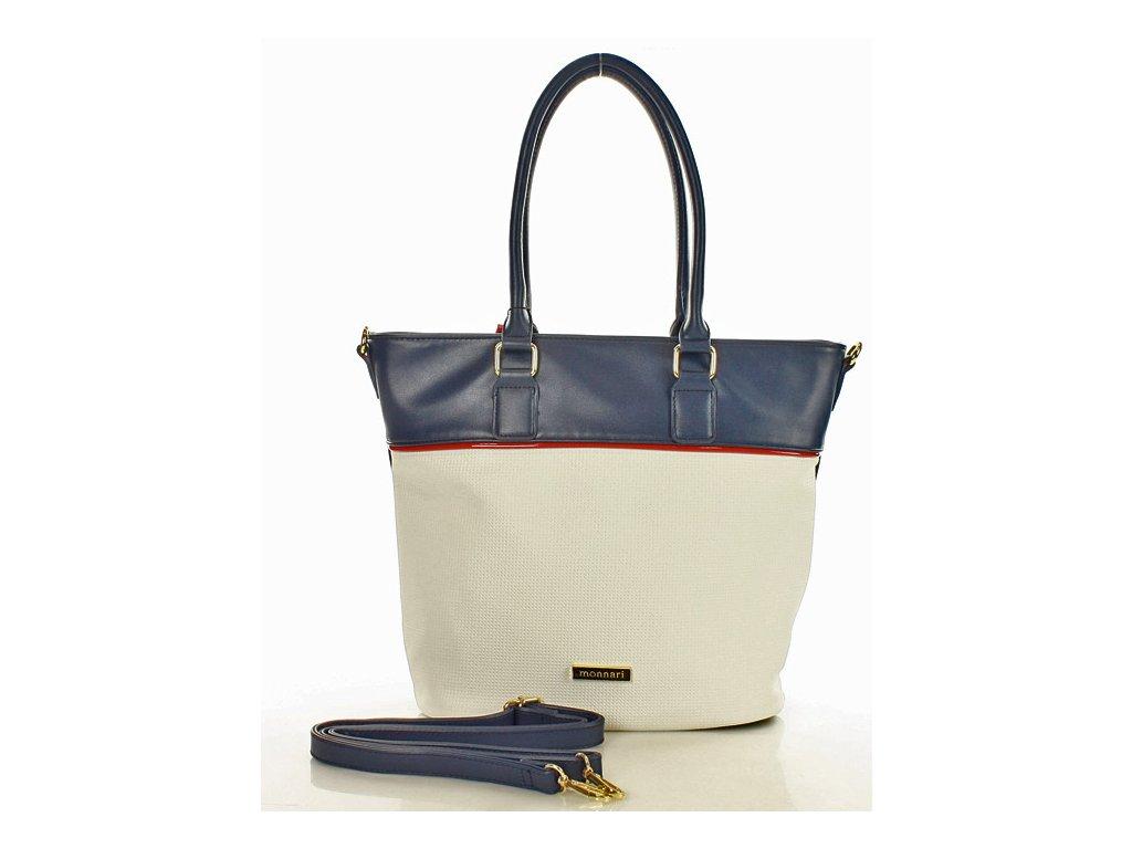 Městská stylová MONNARI kabelka; modro-smetanová