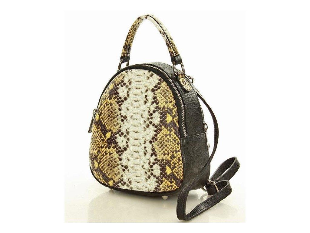 Mazzini černý batoh s motivem hadí kůže