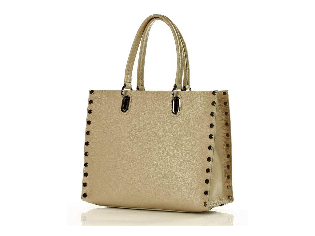 d7e802e01c MARCO MAZZINI Business taška kufřík preety A4 kožená taška - béžová  cappuccino