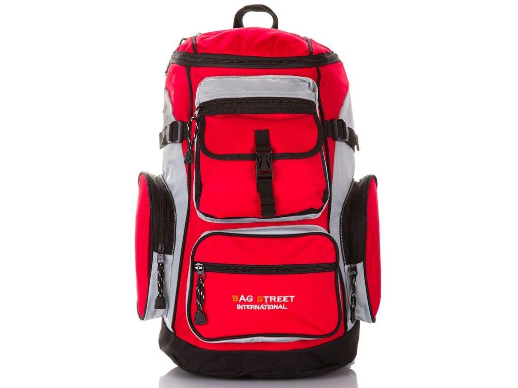 Trekingový horský batoh Bag Street; červený