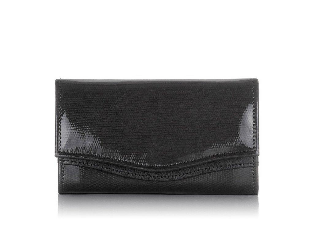 Dámská lakovaná peněženka PAOLO PERUZZI; černá