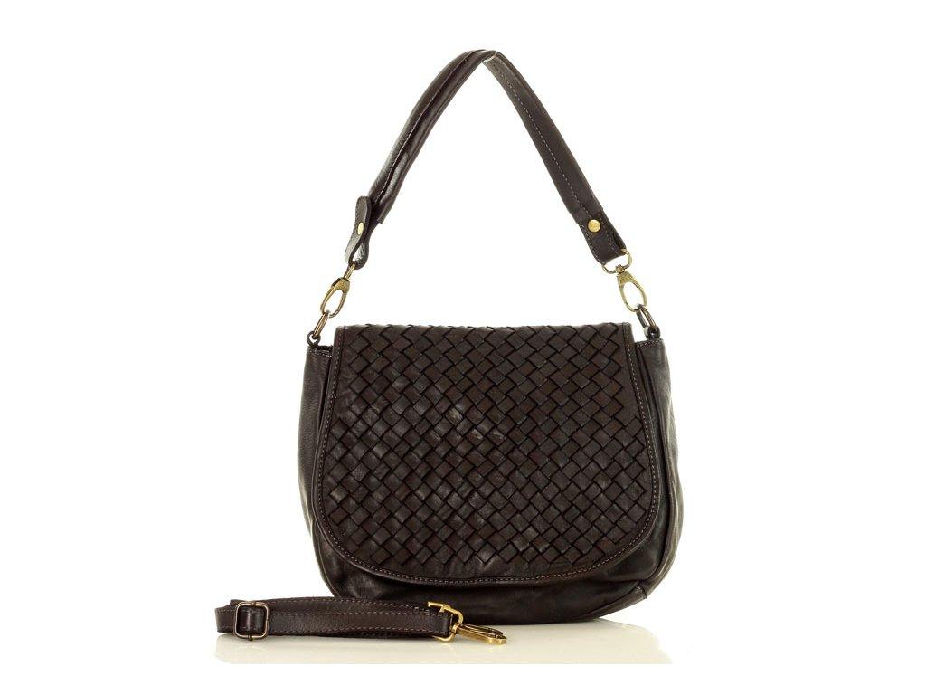 MARCO MAZZINI Kožená kabelka vintage; černá