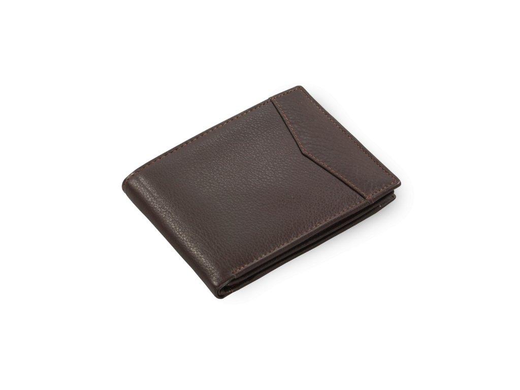 Pánská peněženka kožená česká výroba; hnědá