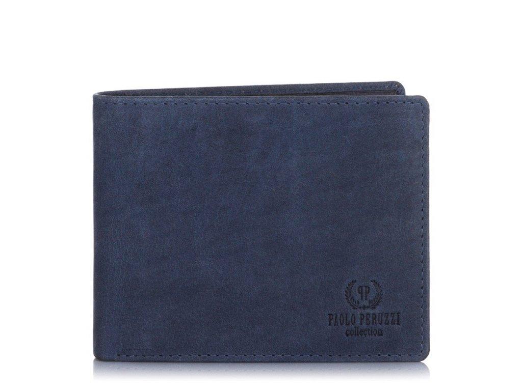 Značková pánská peněženka s ochranou RFID; modrá