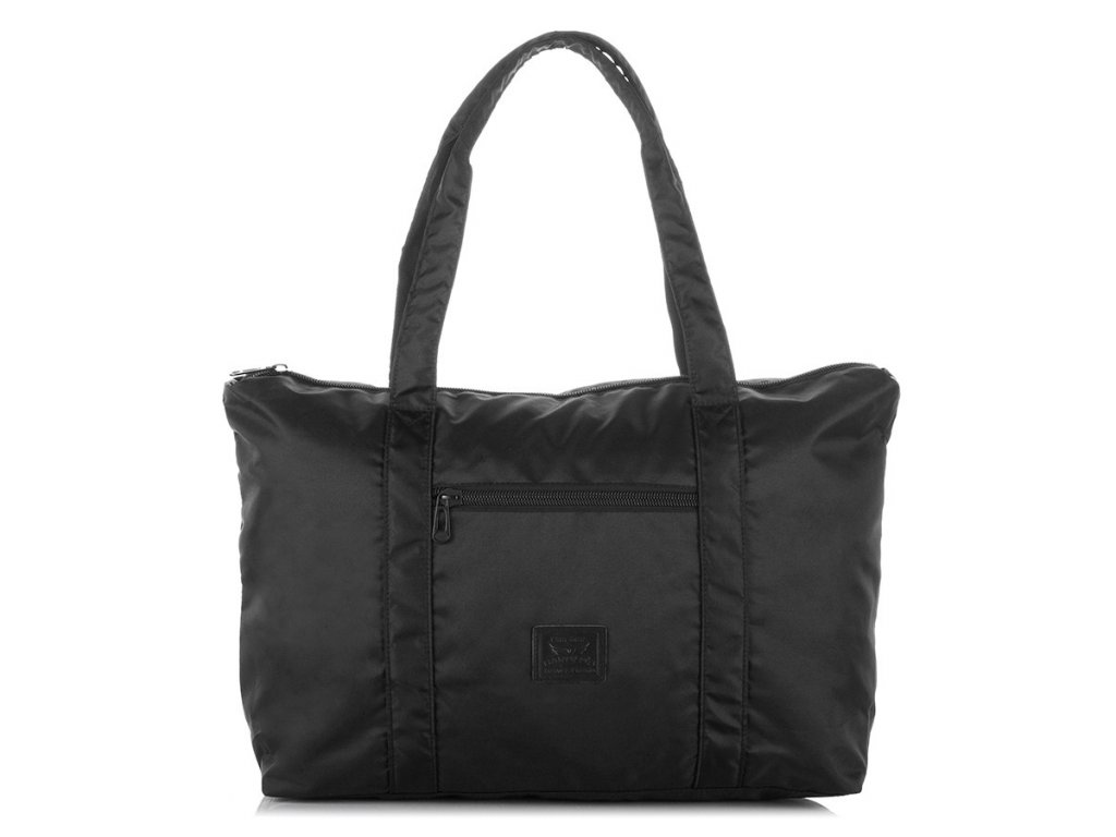 Cestovní taška na rameno; černá