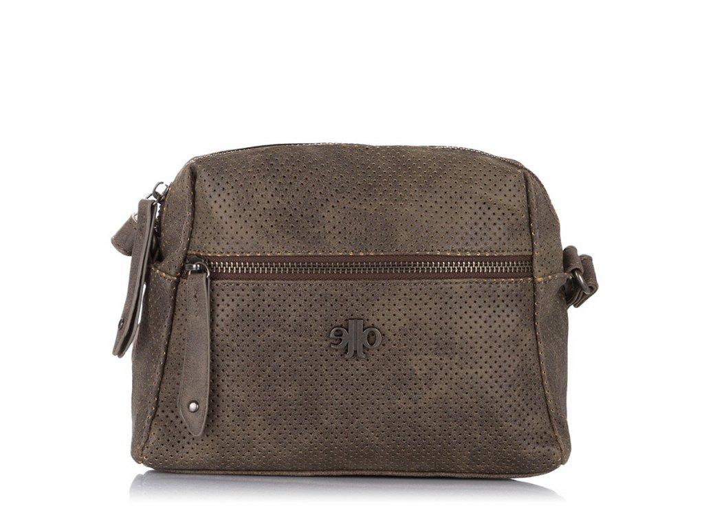 Menší dámská kabelka přes rameno; tmavě hnědá