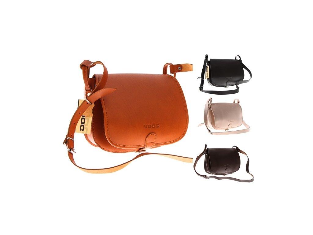 Kožená značková taška VOOC Vintage