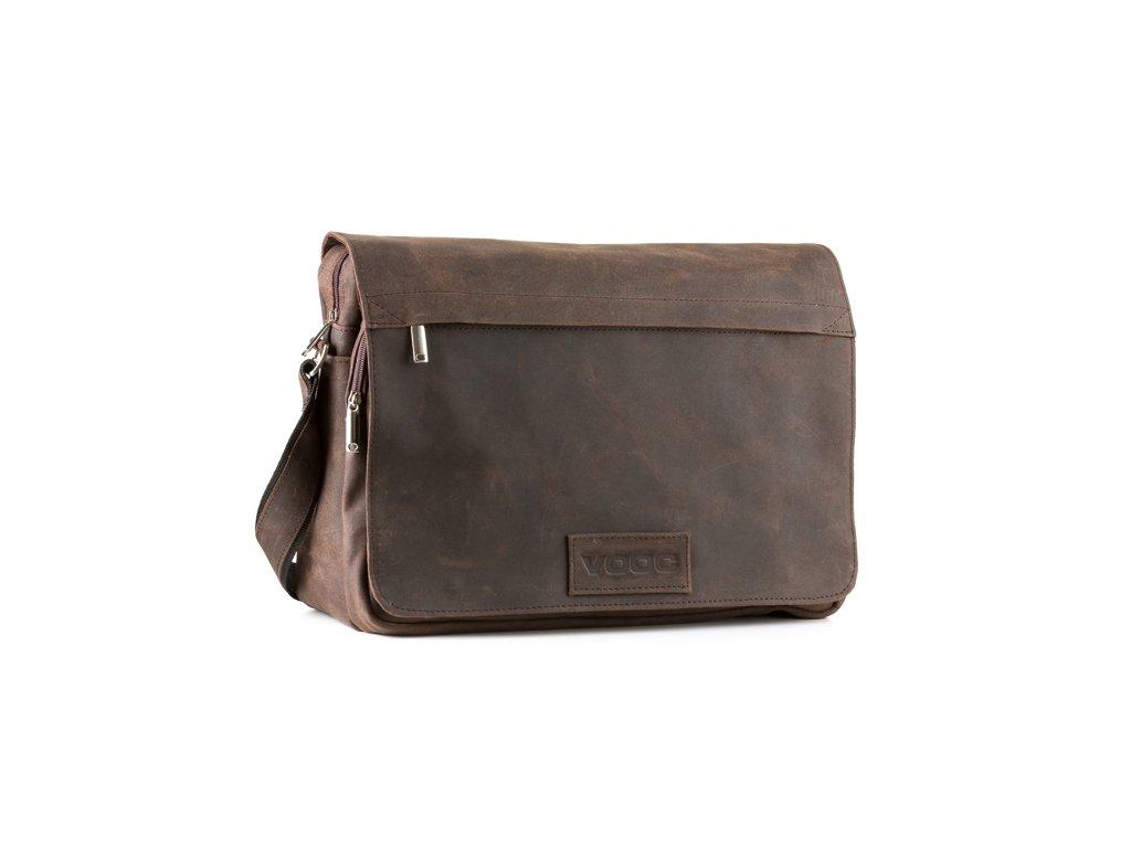 Kožená messenger taška přes rameno