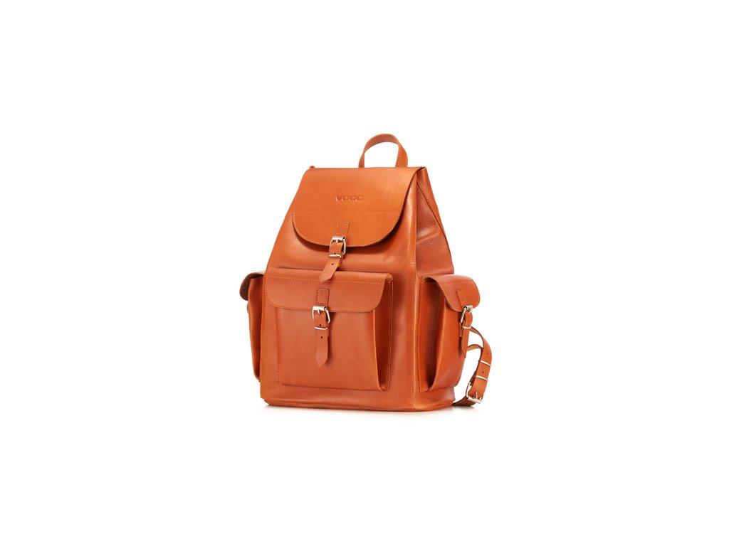 Velký kožený batoh Vintage VOOC