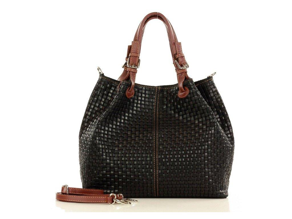 Italská kožená taška MAZZINI GIULIA; černá