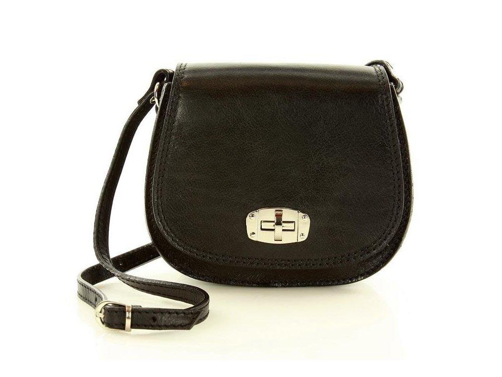 Italská příruční kožená taška MAZZINI Venezia; černá