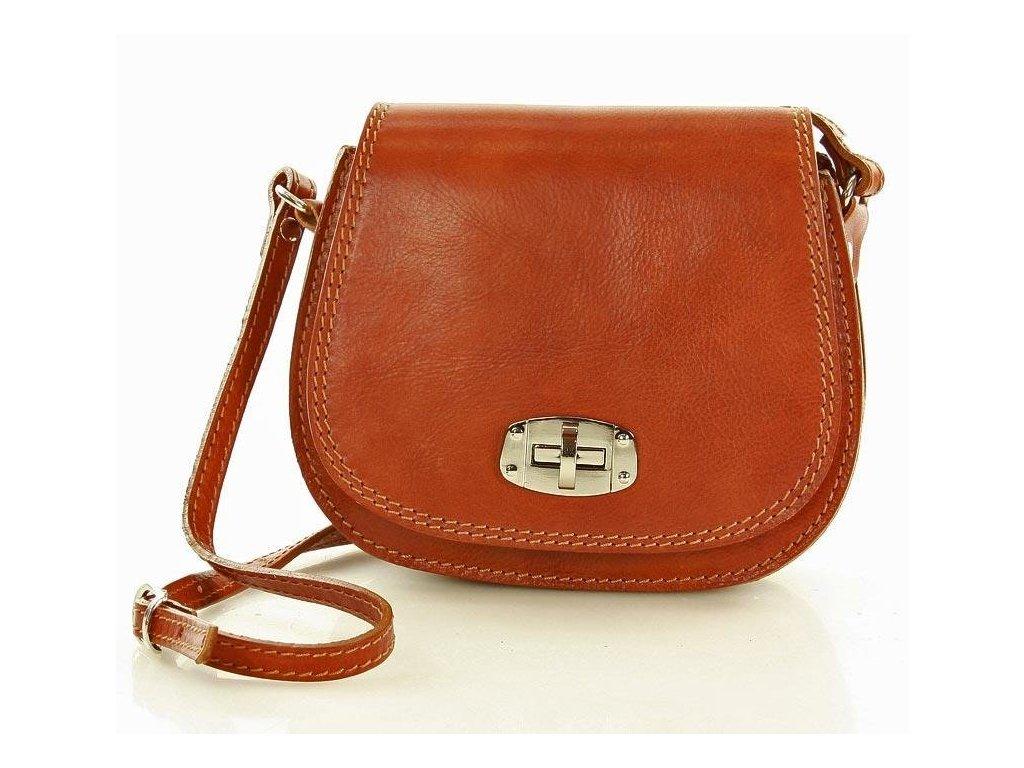 Italská příruční kožená taška MAZZINI Venezia; velbloud