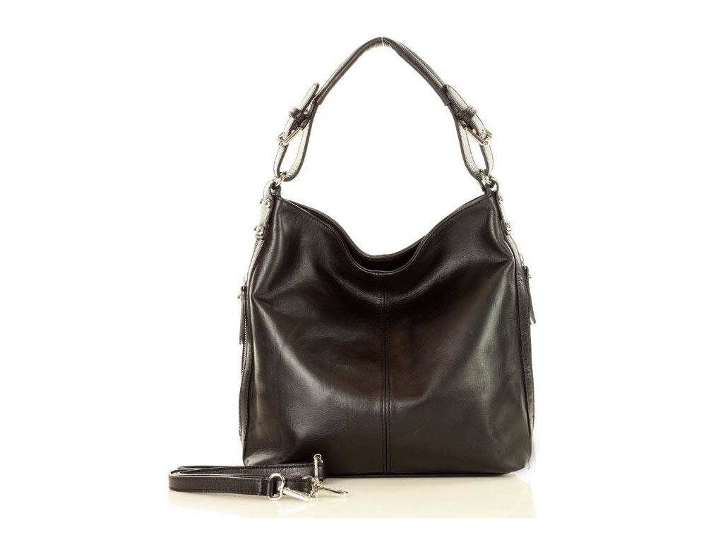 Elegantní taška přes rameno; černá