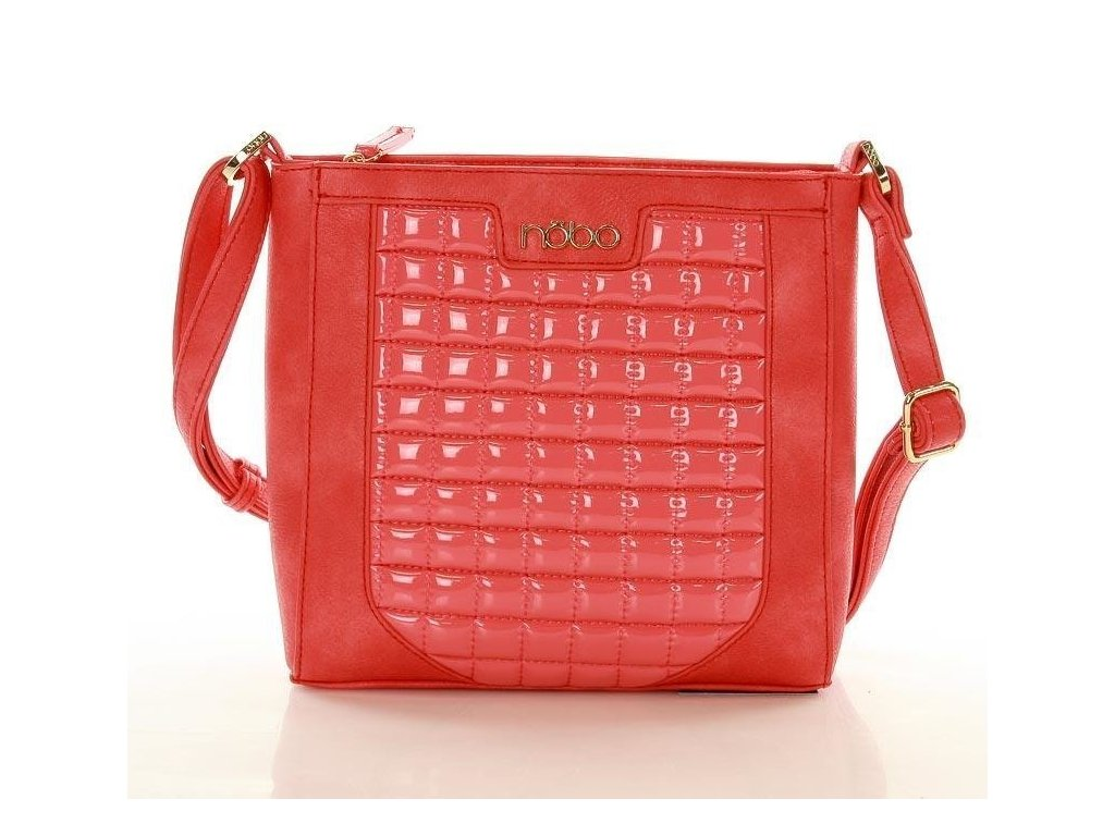 NOBO extravagantní kabelka s lesklým vzorem; červená