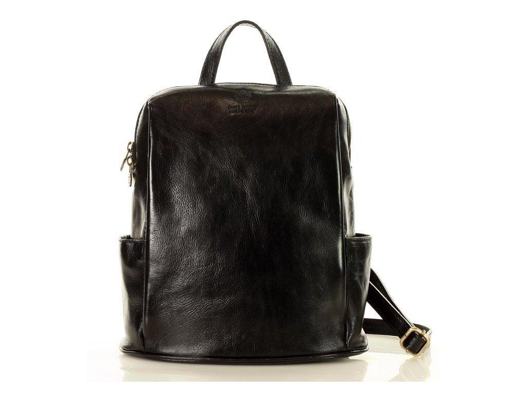 MARCO MAZZINI Elegantní kožený batoh TOMPANATO; černá