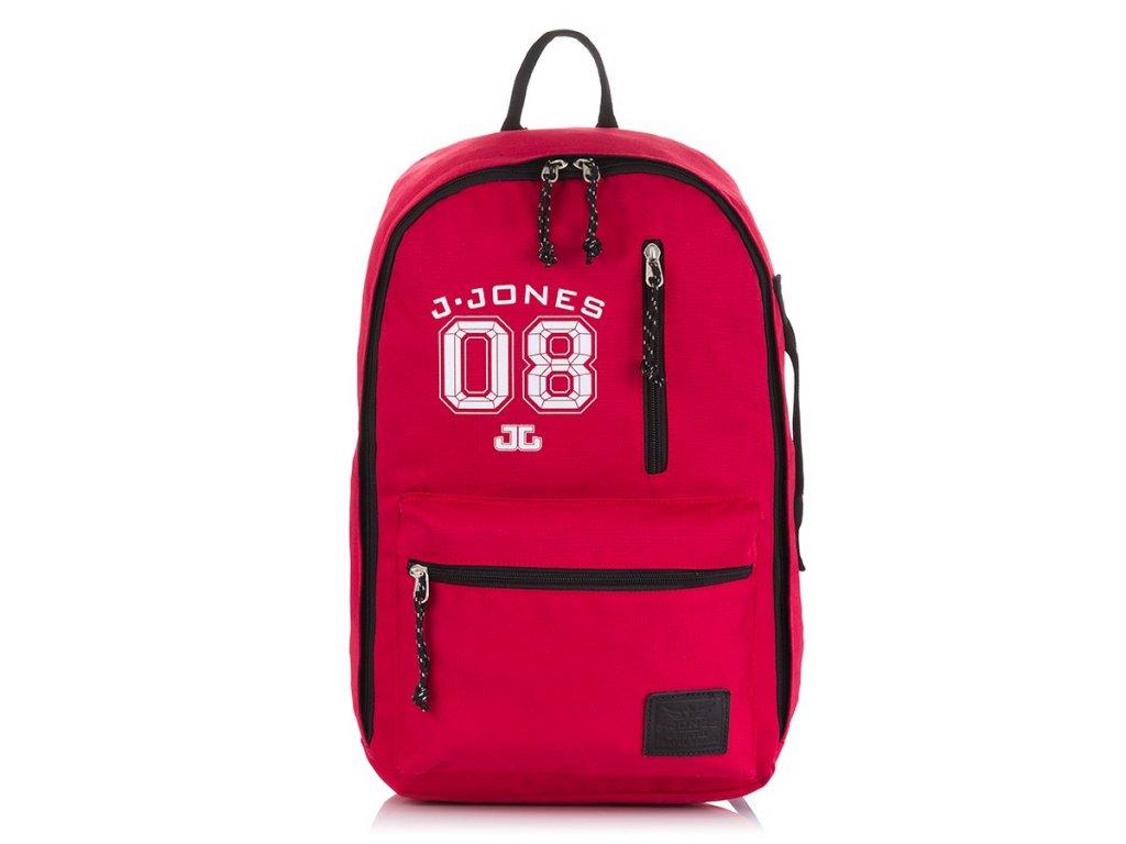 Dětský městský batoh pojme i notebook; červená