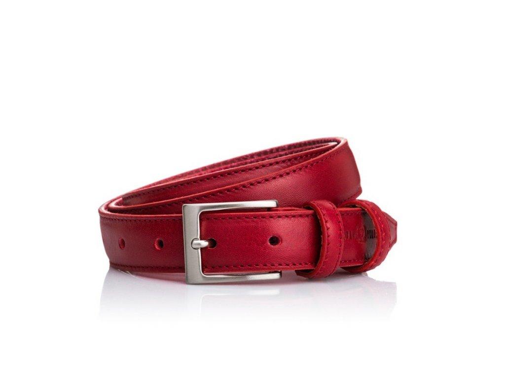 czerwony pasek damski paolo peruzzi skorzany wb03 red