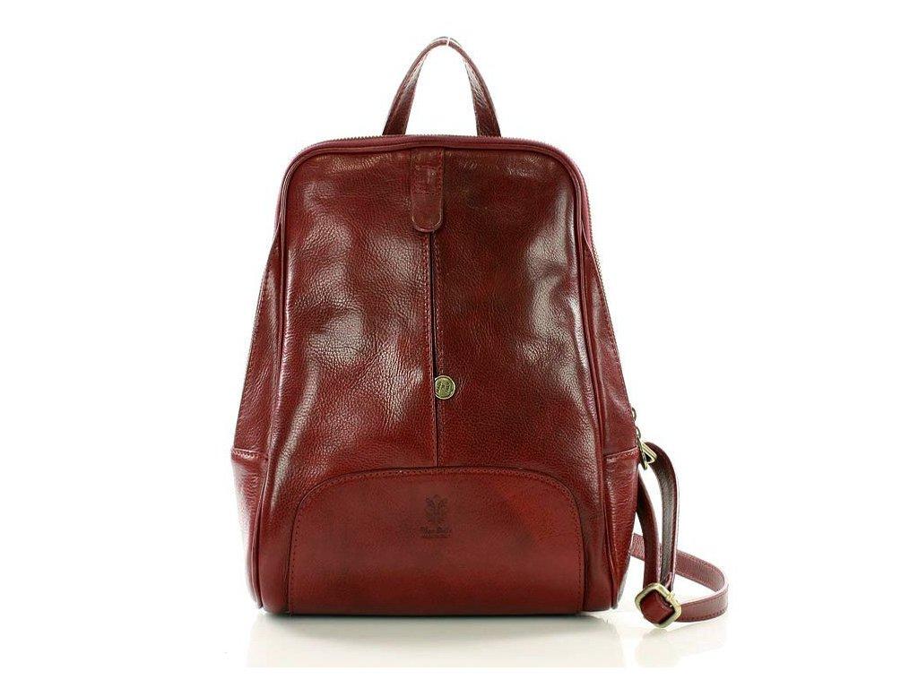 Italský kožený batoh MAZZINI GIRO; burgundy