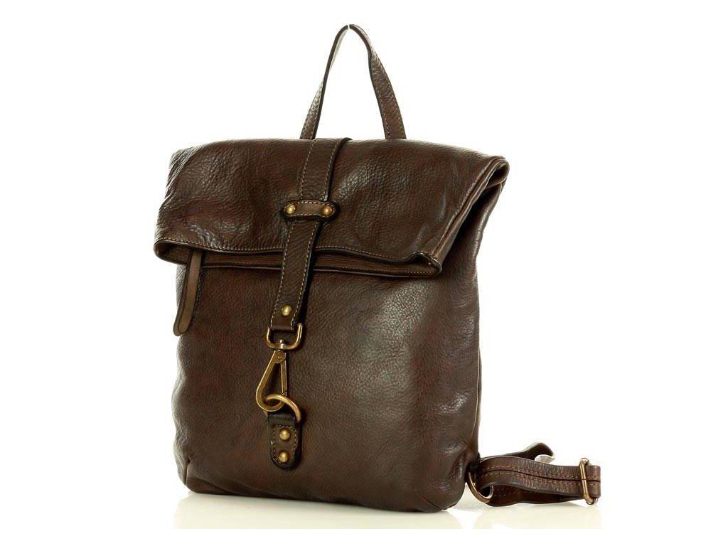 Městský batoh Vintage MAZZINI vyrobený z pravé hověziny; hnědá káva