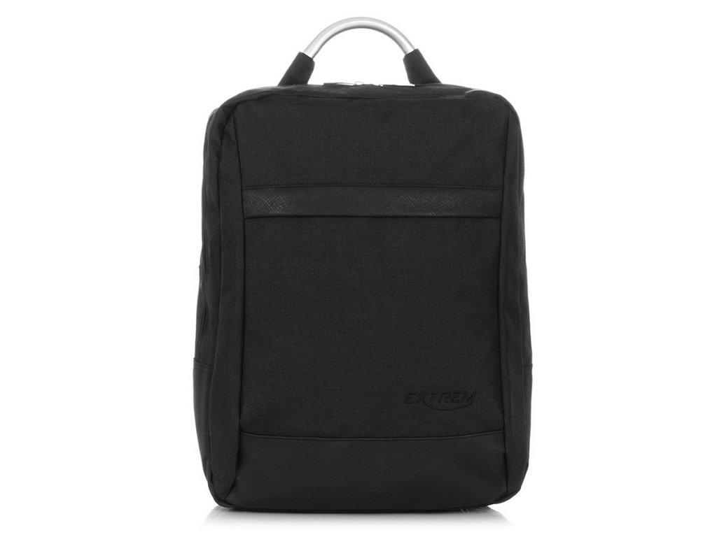 Univerzální městský batoh na notebook; černá
