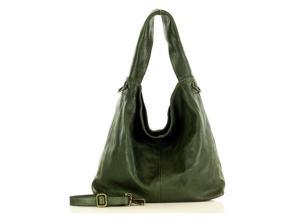 Italská kabelka Mazzini SACCO vintage kožená; zelená