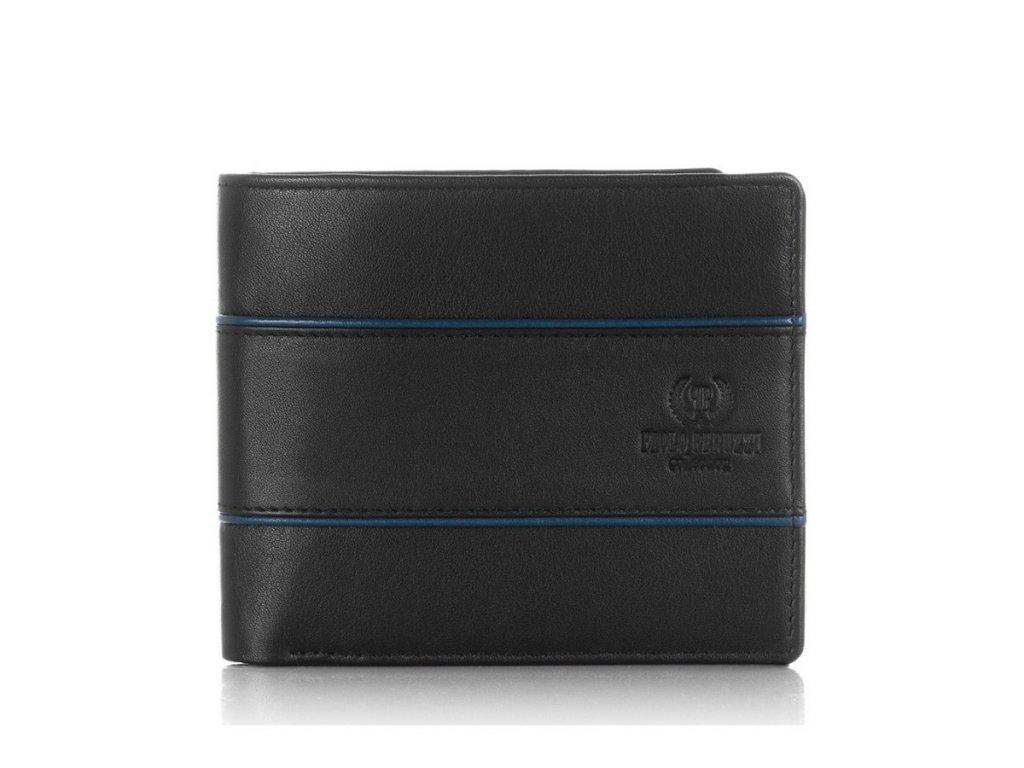 Klasická pánská peněženka PERUZZI ochrana RFID horizontální; černá