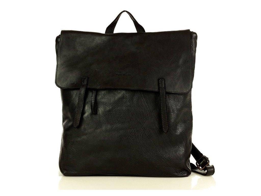 Italský batoh Mazzini kolekce Indiana Jones pravá kůže; černá