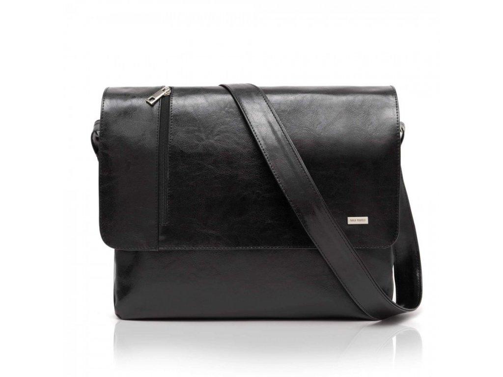 Značková pánská taška na rameno PERUZZI; černá