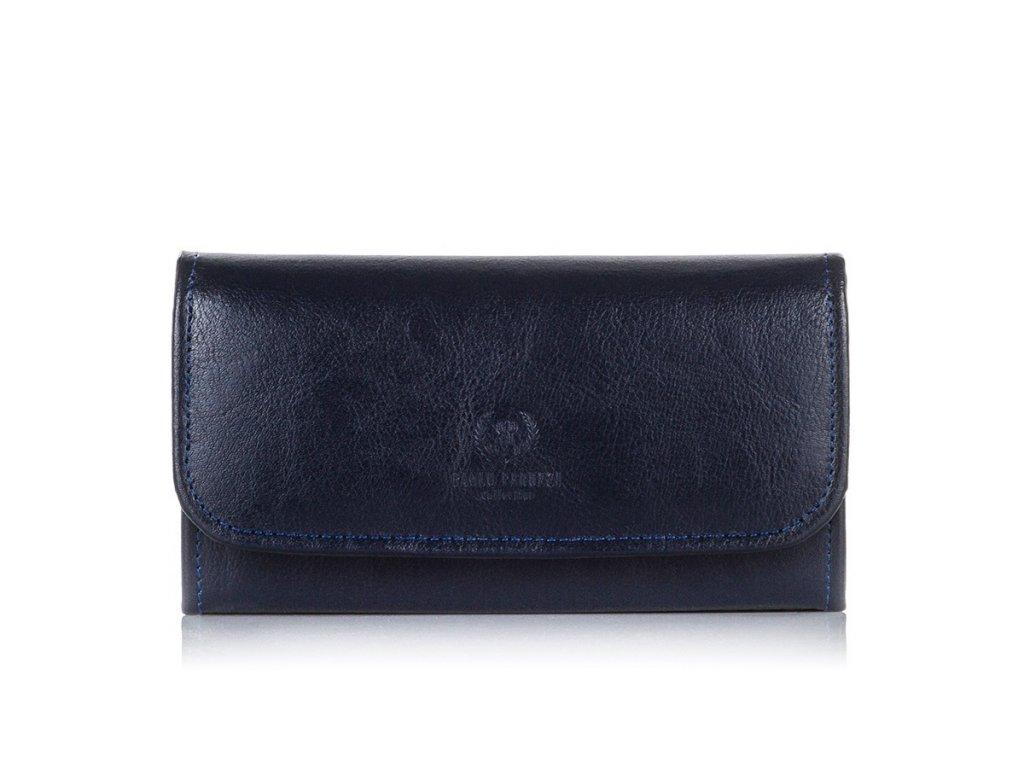Luxusní dámská peněženka PAOLO PERUZZI; modrá SKL
