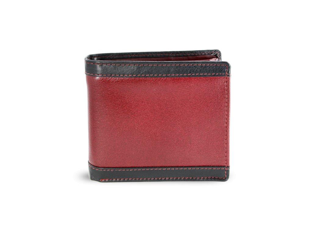 Pánská kožená peněženka - česká výroba; červená