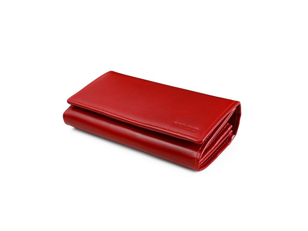 Kožená dámská peněženka VOOC; červená SKL