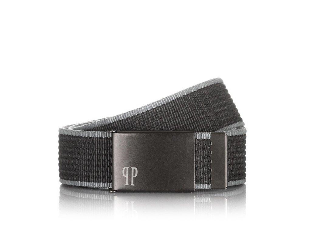 Stylový pánský textilní pásek PAOLO PERUZZI; šedá SKL