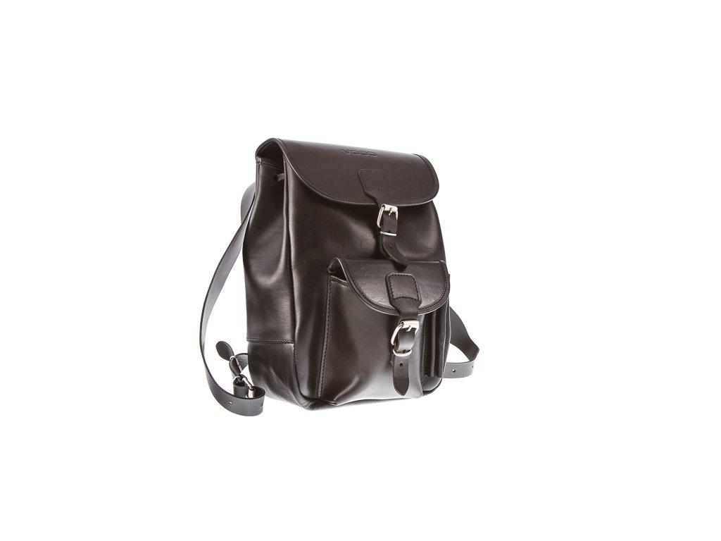 Módní batoh ve vintage stylu, ručně šitý; černá