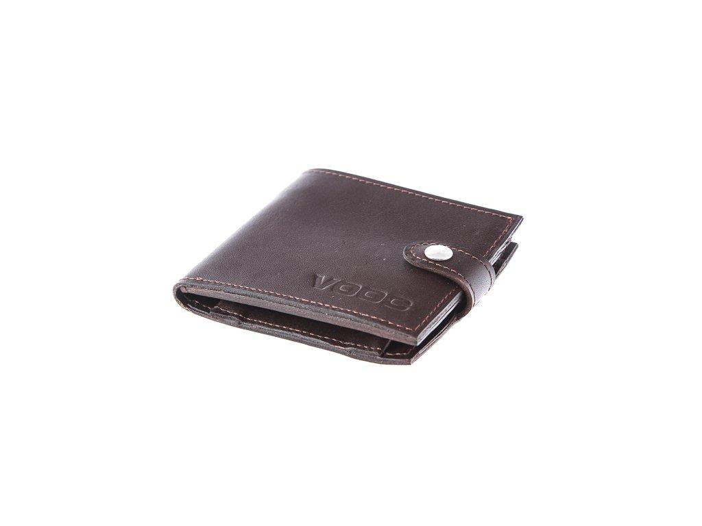 Kompaktní peněženka z pravé kůže unisex Vintage; hnědá