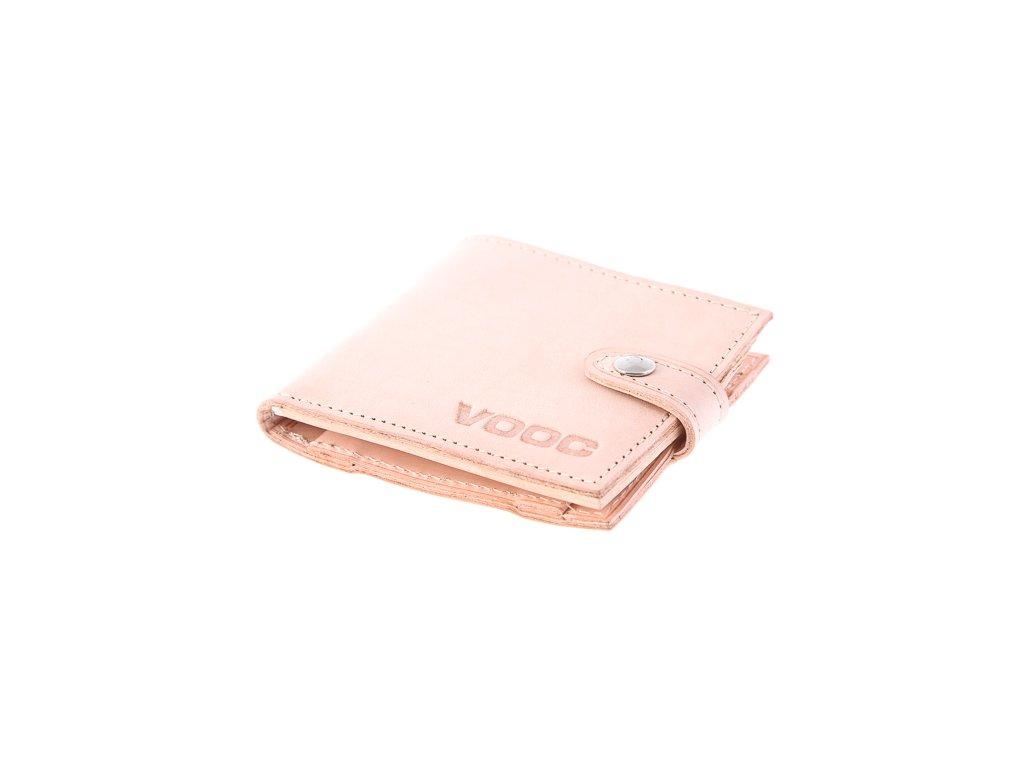 Kompaktní peněženka z pravé kůže unisex Vintage; béžová