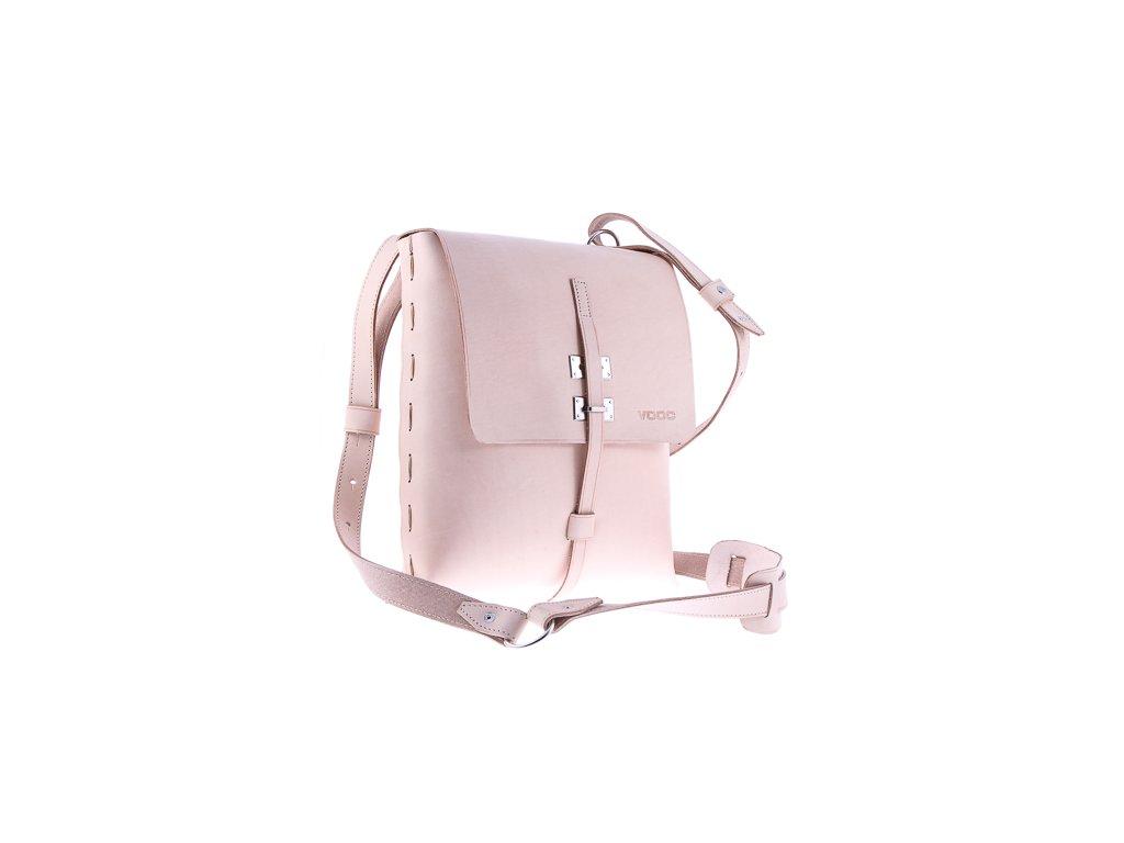 Designová taška přes rameno VOOC Vintage; béžová