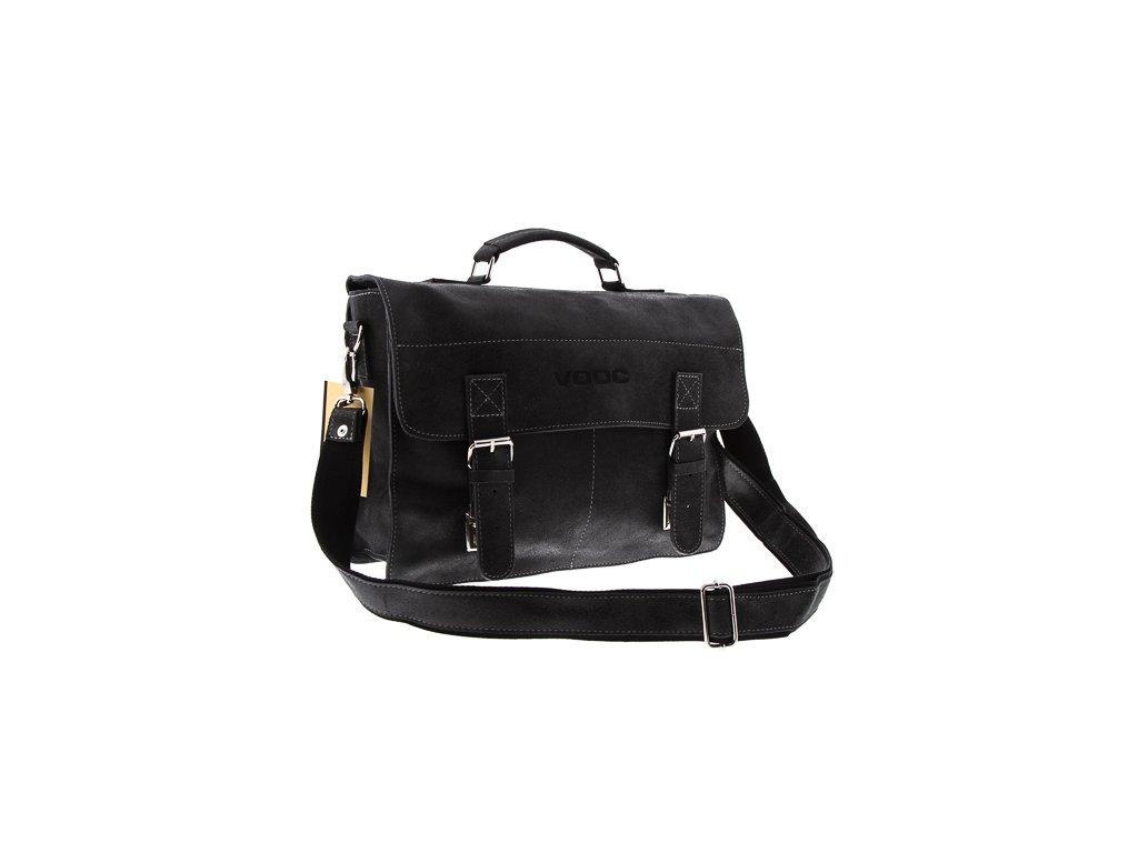Kožená taška pro každý den VOOC starý vzhled; černá