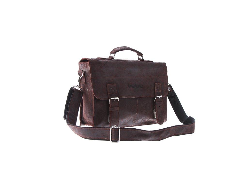 Kožená taška pro každý den VOOC starý vzhled; hnědá