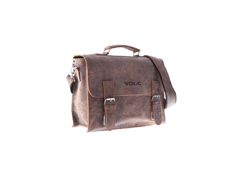 Kožená taška pro každý den VOOC starý vzhled; světle hnědá