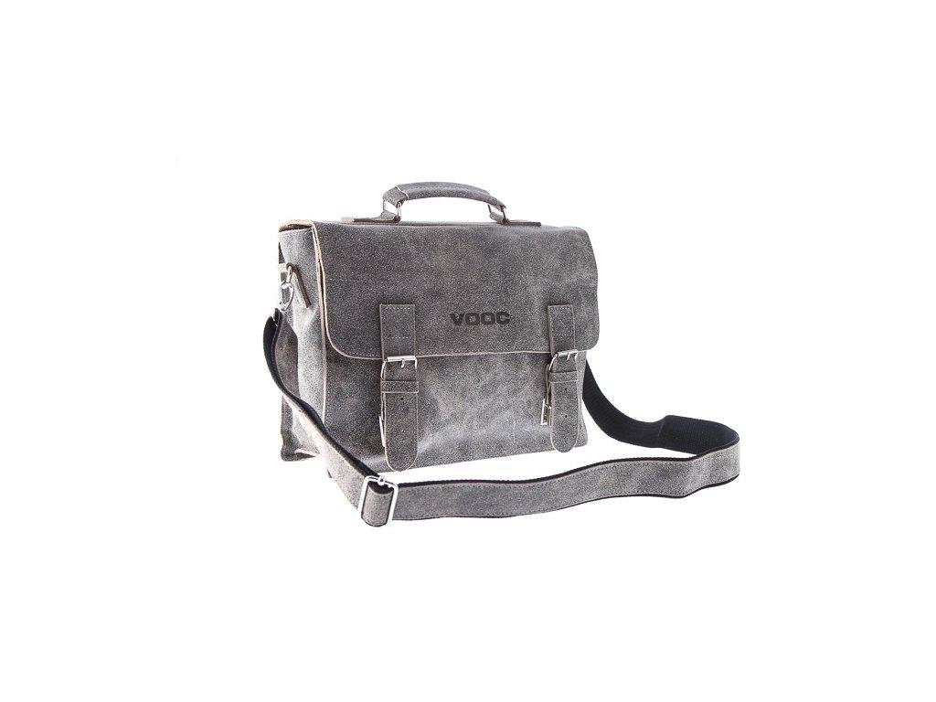 Kožená taška pro každý den VOOC starý vzhled; šedá