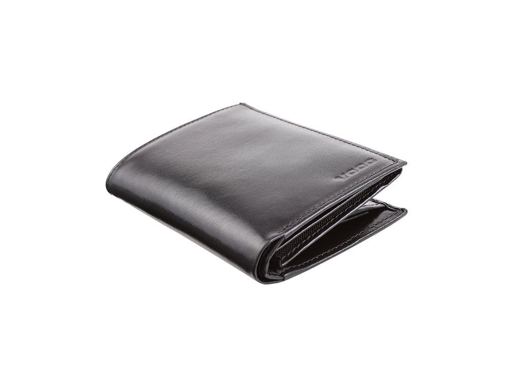 Velká pánská  peněženka kožená VOOC; černá