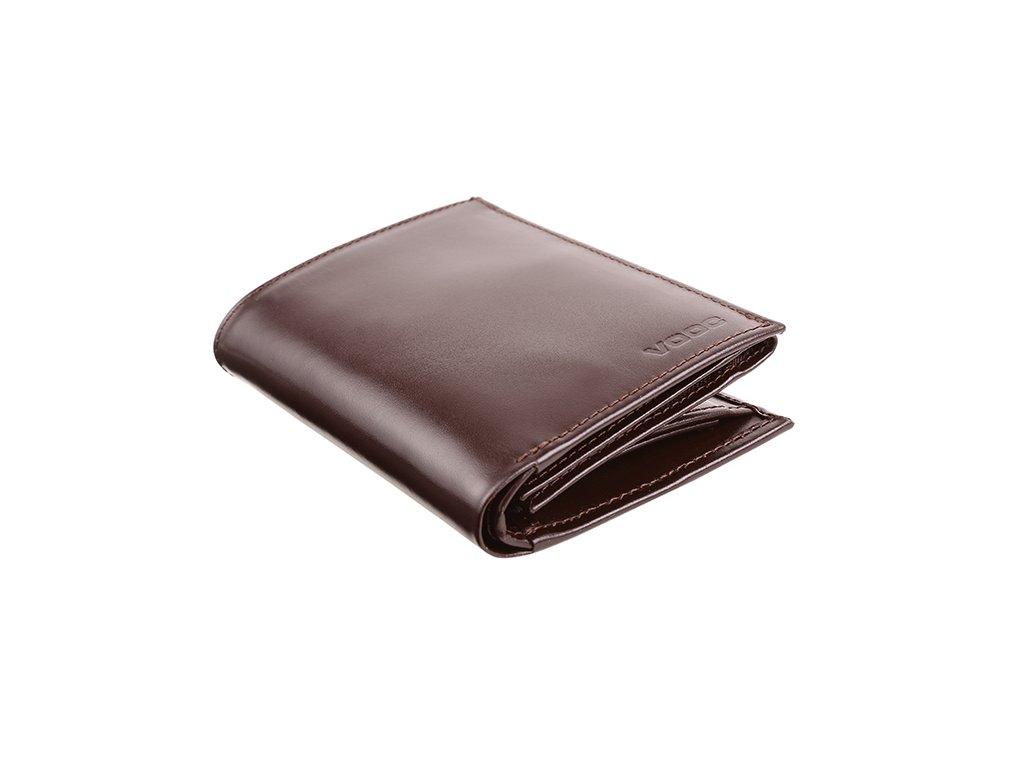 Velká pánská  peněženka kožená VOOC; hnědá