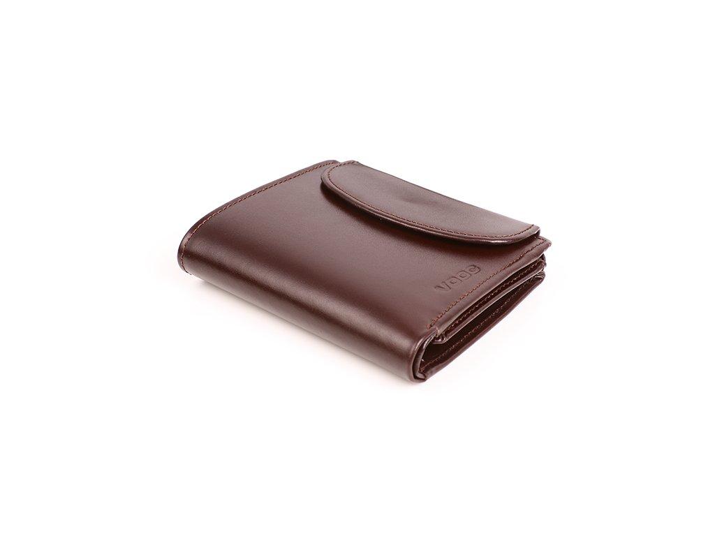 Originální peněženka VOOC z pravé kůže; hnědá
