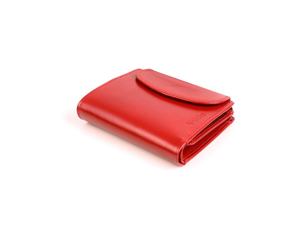Originální peněženka VOOC z pravé kůže; červená